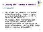 ii leveling of f1 in nules borriana1