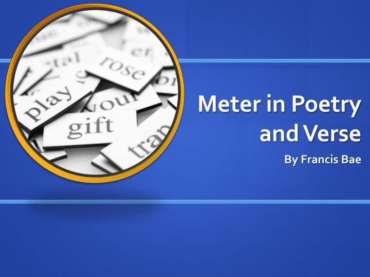 meter in poetry and verse n.