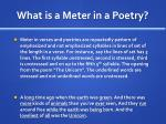 what is a meter in a poetry