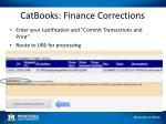 catbooks finance corrections1