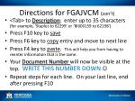 directions for fgajvcm con t2