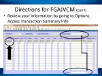directions for fgajvcm con t3