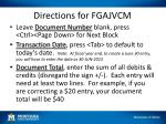 directions for fgajvcm
