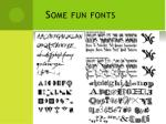 some fun fonts