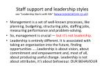 staff support and leadership styles see leadership starts with me www nsasocialcare co uk