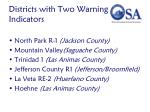 districts with two warning indicators