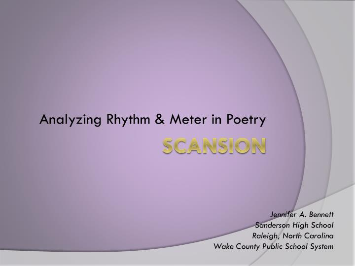 analyzing rhythm meter in poetry n.
