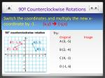 90 counterclockwise rotations1