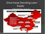china faces dwindling labor supply