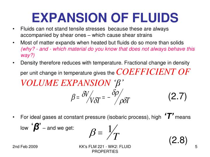 EXPANSION OF FLUIDS