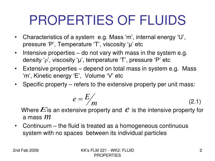 Properties of fluids1