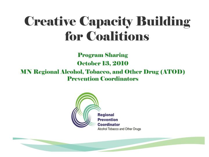 creative capacity building for coalitions n.