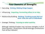 four domains of strengths