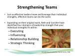 strengthening teams