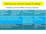 what are some common sources of funding