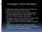 divergent plate movement