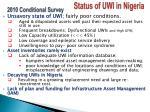 status of uwi in nigeria