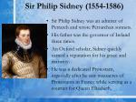 sir philip sidney 1554 1586