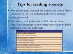 tips for reading sonnets1