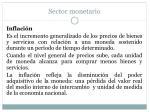 sector monetario12