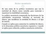 sector monetario17