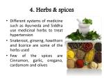 4 herbs spices