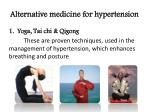 alternative medicine for hypertension