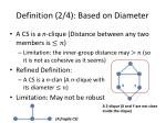 definition 2 4 based on diameter