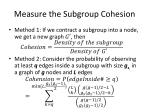 measure the subgroup cohesion