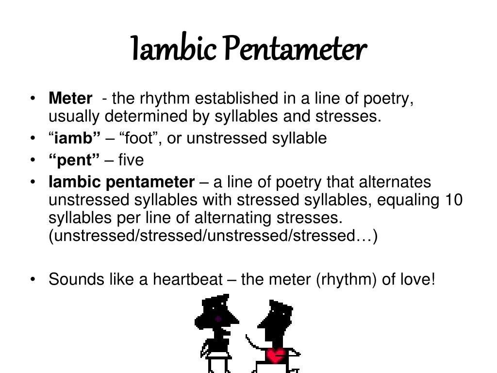 ppt iambic pentameter powerpoint presentation id 2225688