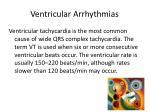 ventricular arrhythmias