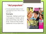 ad populam