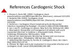 references cardiogenic shock
