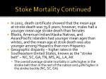 stoke mortality continued