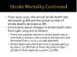 stroke mortality continued
