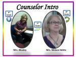counselor intro