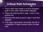 critical path schedules
