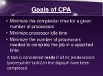 goals of cpa