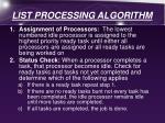 list processing algorithm