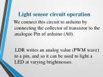 light sensor circuit operation1