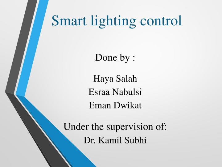 smart lighting control n.