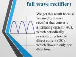 the input of the optocoupler the output of full wave rectifier