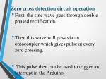 zero cross detection circuit operation