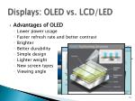 displays oled vs lcd led