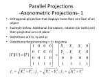 parallel projections axonometric projections 1