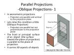 parallel projections oblique projections 1