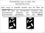 propri t s des filtres par reconstruction7