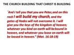 the church building that christ is building