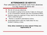 attendance is key poor attendance and missed work from absences is a big reason students fail