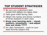 top student strategies